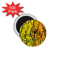 Gentle yellow abstract art 1.75  Magnets (100 pack)