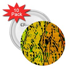 Gentle yellow abstract art 2.25  Buttons (10 pack)