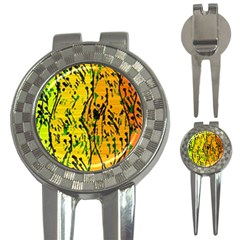 Gentle yellow abstract art 3-in-1 Golf Divots