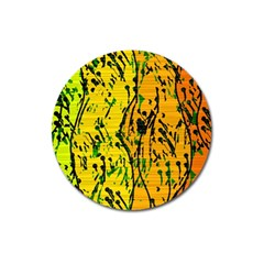 Gentle yellow abstract art Magnet 3  (Round)