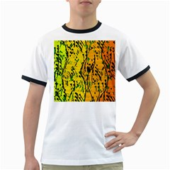 Gentle yellow abstract art Ringer T-Shirts