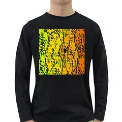 Gentle yellow abstract art Long Sleeve Dark T-Shirts