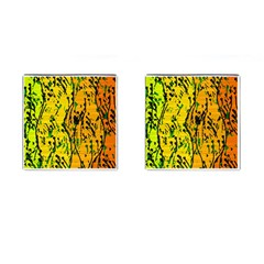 Gentle yellow abstract art Cufflinks (Square)