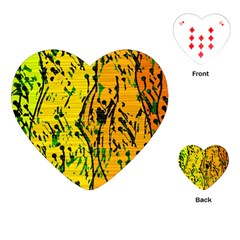 Gentle yellow abstract art Playing Cards (Heart)
