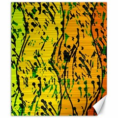 Gentle yellow abstract art Canvas 8  x 10