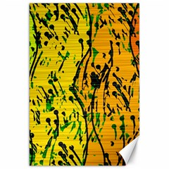 Gentle yellow abstract art Canvas 20  x 30