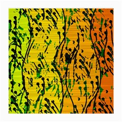 Gentle yellow abstract art Medium Glasses Cloth (2-Side)