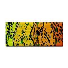 Gentle yellow abstract art Hand Towel