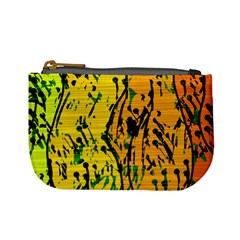 Gentle yellow abstract art Mini Coin Purses