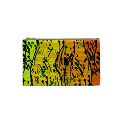 Gentle yellow abstract art Cosmetic Bag (Small)