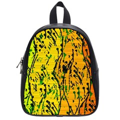 Gentle yellow abstract art School Bags (Small)