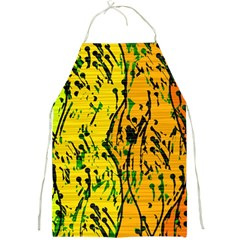 Gentle yellow abstract art Full Print Aprons