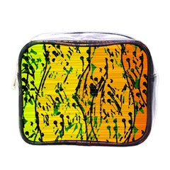 Gentle yellow abstract art Mini Toiletries Bags