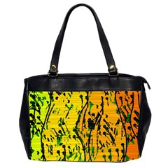 Gentle yellow abstract art Office Handbags (2 Sides)