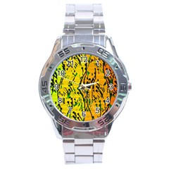 Gentle yellow abstract art Stainless Steel Analogue Watch