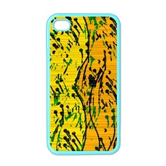 Gentle yellow abstract art Apple iPhone 4 Case (Color)