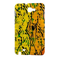Gentle yellow abstract art Samsung Galaxy Note 1 Hardshell Case