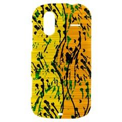 Gentle yellow abstract art HTC Amaze 4G Hardshell Case