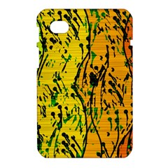 Gentle yellow abstract art Samsung Galaxy Tab 7  P1000 Hardshell Case