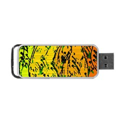 Gentle yellow abstract art Portable USB Flash (One Side)