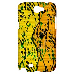 Gentle yellow abstract art Samsung Galaxy Note 2 Hardshell Case