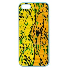 Gentle yellow abstract art Apple Seamless iPhone 5 Case (Color)