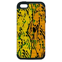 Gentle yellow abstract art Apple iPhone 5 Hardshell Case (PC+Silicone)