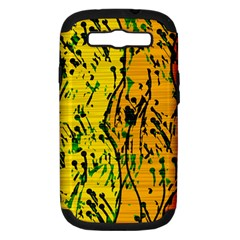 Gentle yellow abstract art Samsung Galaxy S III Hardshell Case (PC+Silicone)