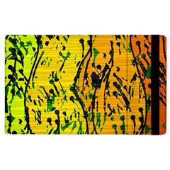 Gentle yellow abstract art Apple iPad 2 Flip Case