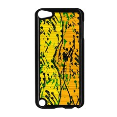 Gentle yellow abstract art Apple iPod Touch 5 Case (Black)