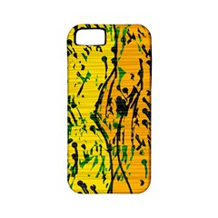 Gentle yellow abstract art Apple iPhone 5 Classic Hardshell Case (PC+Silicone)