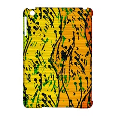 Gentle yellow abstract art Apple iPad Mini Hardshell Case (Compatible with Smart Cover)
