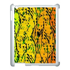 Gentle yellow abstract art Apple iPad 3/4 Case (White)