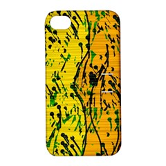 Gentle yellow abstract art Apple iPhone 4/4S Hardshell Case with Stand