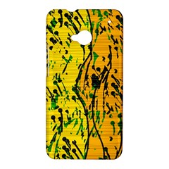 Gentle yellow abstract art HTC One M7 Hardshell Case