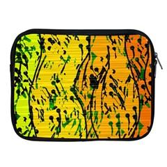 Gentle yellow abstract art Apple iPad 2/3/4 Zipper Cases