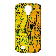 Gentle yellow abstract art Samsung Galaxy S4 Classic Hardshell Case (PC+Silicone)