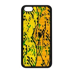 Gentle yellow abstract art Apple iPhone 5C Seamless Case (Black)