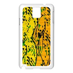 Gentle yellow abstract art Samsung Galaxy Note 3 N9005 Case (White)