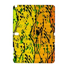 Gentle yellow abstract art Samsung Galaxy Note 10.1 (P600) Hardshell Case