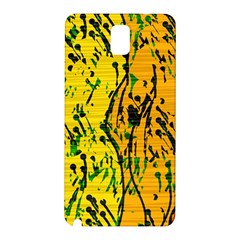 Gentle yellow abstract art Samsung Galaxy Note 3 N9005 Hardshell Back Case