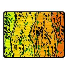 Gentle yellow abstract art Double Sided Fleece Blanket (Small)