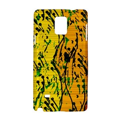 Gentle yellow abstract art Samsung Galaxy Note 4 Hardshell Case