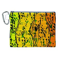 Gentle yellow abstract art Canvas Cosmetic Bag (XXL)