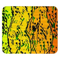 Gentle yellow abstract art Double Sided Flano Blanket (Small)