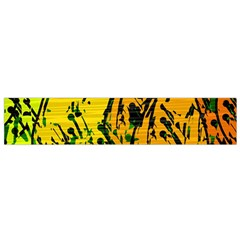 Gentle Yellow Abstract Art Flano Scarf (small)