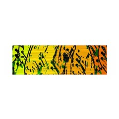 Gentle yellow abstract art Satin Scarf (Oblong)