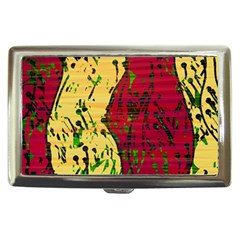 Maroon and ocher abstract art Cigarette Money Cases