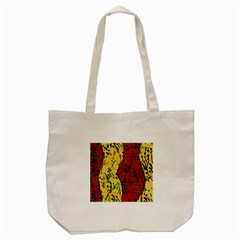 Maroon and ocher abstract art Tote Bag (Cream)