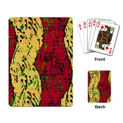 Maroon and ocher abstract art Playing Card